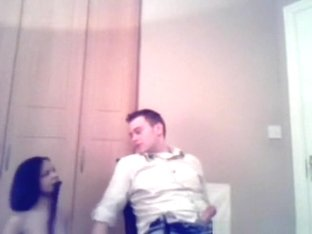Girl performs a lapdance for her bf and gets cowgirl and doggystyle fucked