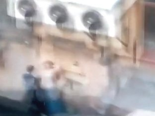 Voyeur tapes a student having sex with the local village idiot in public