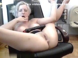 Moaning while masturbating at home