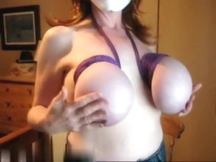 Great giant boobs and hard nipples