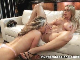Fabulous pornstars Carolyn Reese, Tanya Tate in Exotic Cunnilingus, British porn scene