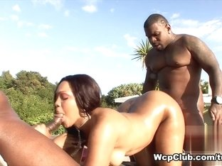 Crazy pornstar in Fabulous Threesomes, Outdoor porn clip