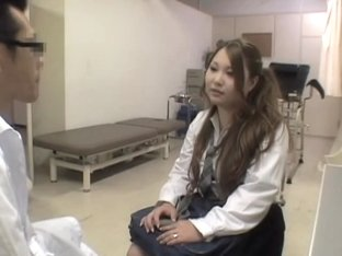Chubby Japanese gets some slit drilling during her Gyno exam