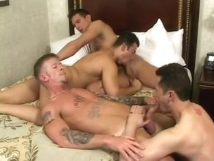 Amazing amateur gay movie with Group Sex, Barebacking scenes