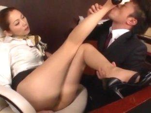 Hottest Japanese girl Asami Ogawa in Amazing Blowjob, Stockings JAV scene