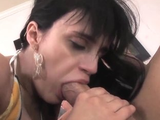 A petite, raven haired whore is used up good