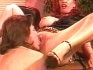 1990's porn Redhead boss interviews for a facial