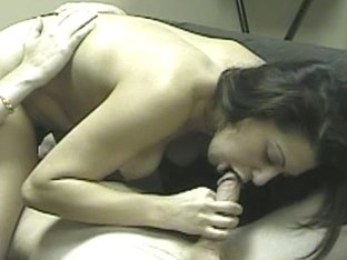 Latin hot brunette takes a dick in her mouth for the first time