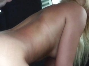 Blonde pussy rides the cock for a free ride home
