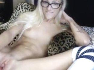 The blonde in glasses MCjigglebutt fucks her ass