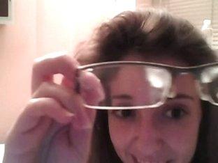 Amateur couple on webcam, facial on glasses Camaster