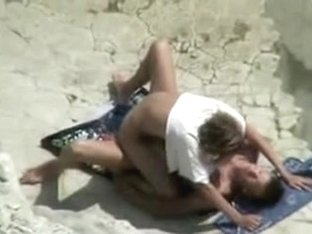 Mature Beach Fuck Movie Scene of Couple Caught on Voyeur Web Camera