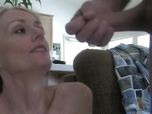 Hot wife takes my cum in her mouth
