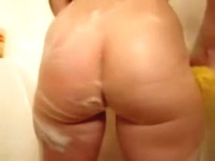 Big white booty soap in the shower