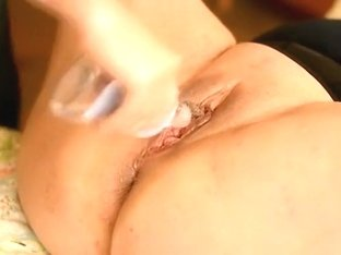Extreme double fisting for my mature white BBW wife
