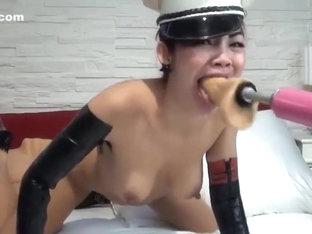 NightFireQueen deepthroat fucking machine