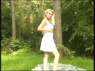 Golden-Haired posing in the forest Redtube Free Public Porn Movies