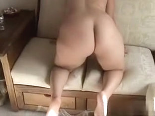 Bulging booty & hairy pussy.