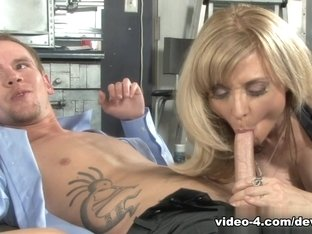 Hottest pornstars Sonny Hicks, Britney Young, Nina Hartley in Incredible Threesomes, Blonde sex sc.