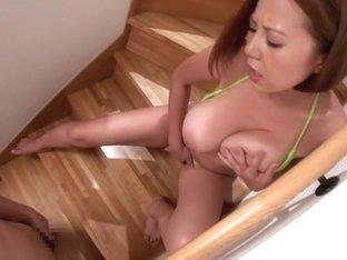 Exotic Japanese girl Ruri Saijou in Incredible JAV censored POV, MILFs clip