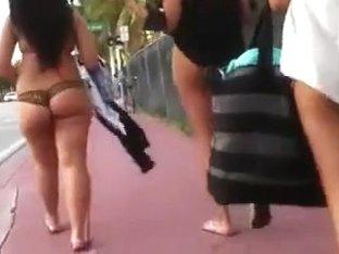 Creeping on girls in thong bikinis