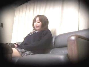 Asian teen gets a creampie in spy cam hardcore sex video