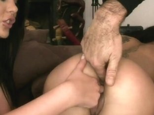 Cheeky lesbians playing with each other's pussy