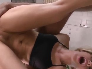 Ashley Fires gets her perfect ass licked and her pussy fucked at the gym