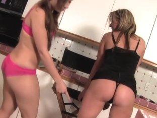 Newbie Teen Sophia Gets Lesbian Lessons From Carolyn