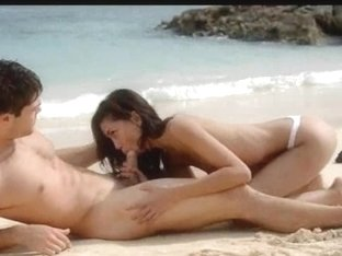 Extremely fluent lovers sex on the beach