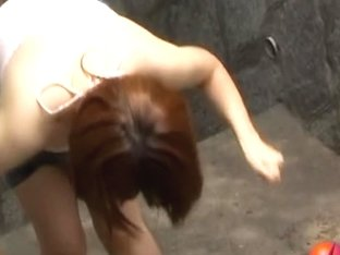 Playful attractive Asian sweetie getting involved in some sharking odyssey