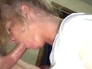 Homemade video of a hot MILF sucking a big dick