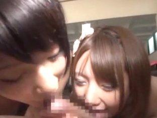 Wild orgy with Japanese AV model in a short skirt