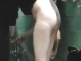 Half-dressed wife caught showering on hidden camera