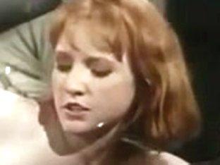Office Lesbos in retro movie scene