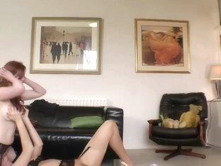 Lesbo older in nylons masturbating