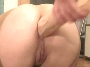 Sexy angel rides a big fat dildo in anal porn video
