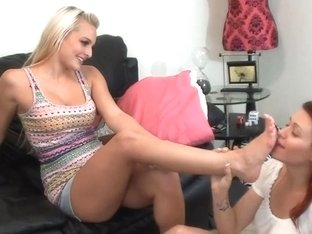 Lesbo Trample and Foot Worship