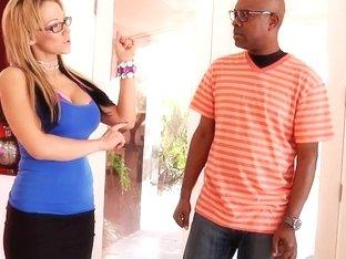 Sexy MILF Nikki Sexx fucks her hot black neighbor