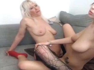I'm strapon-fucking a cutie in my nasty amateur lesbian