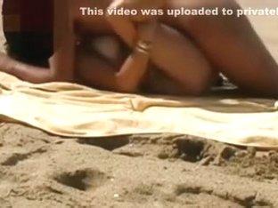 Quick one on a desert beach