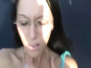 Pierced girl fucked outside