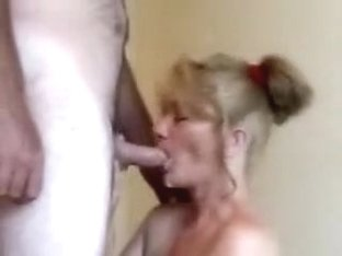 Wife giving blowjob to the mailman