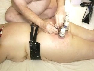 Amazing homemade BDSM scene with me and my husband