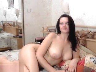 Cute brunette Anje1lika hard fucks herself