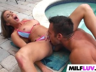 Horny MILF On The Grill
