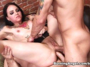 Exotic pornstar John Strong in Crazy Big Ass, Threesomes sex video