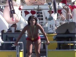 Fabulous pornstar in hottest striptease, voyeur porn scene