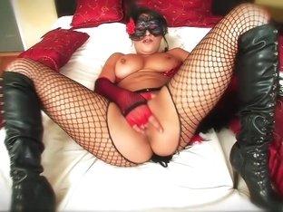 Horny pornstar Charley Chase in amazing masturbation, dildos/toys sex video