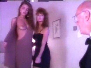 Ashlyn Gere & Zara Whites perform for old geezer